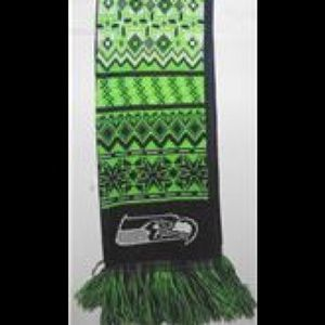 Other - Seattle Seahawks Ugly Sweater Reversible Scarf